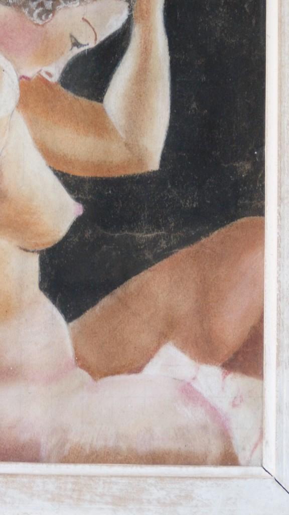 Nu De Femme, Pastel Art Déco, Robert Duflos