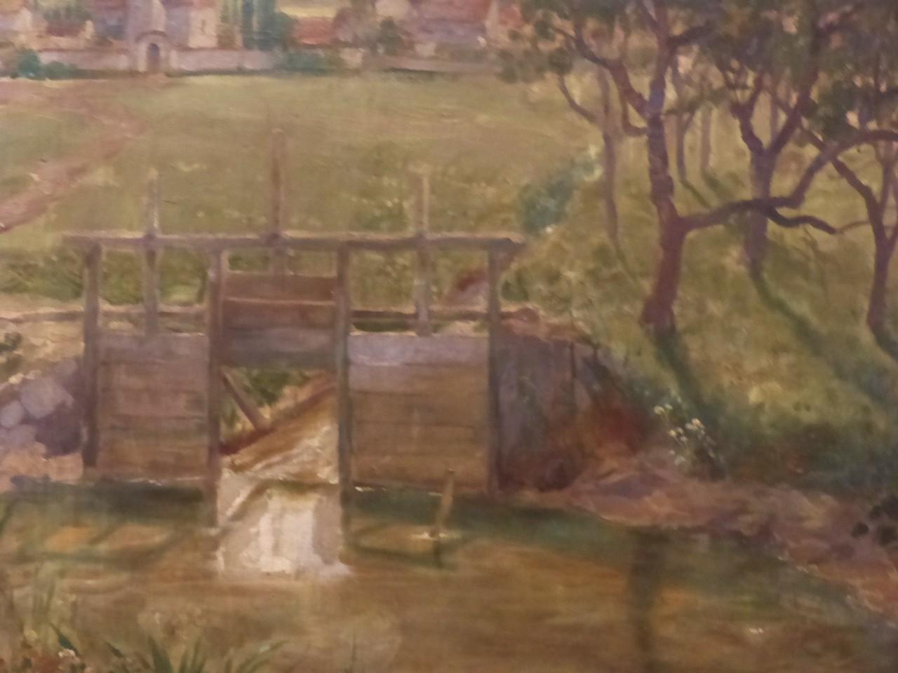 Frieda Sieburger, Ecole Tchèque, Paysage Avec écluse, XIX ème