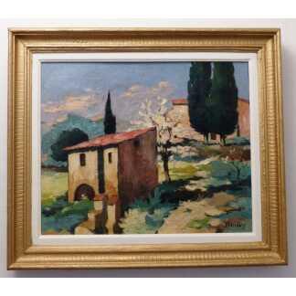 Cabanon Dans La Guarrigue, Paysage De Provence, Lumineux, XX ème
