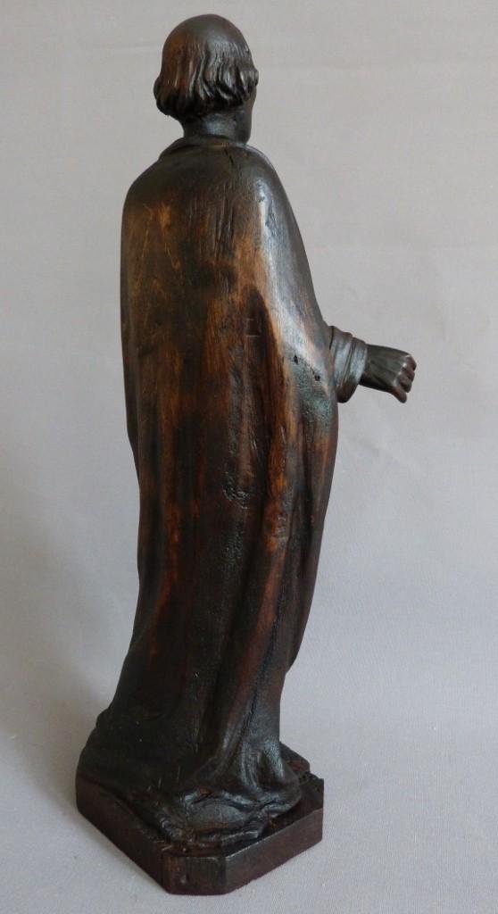 Sculpture, Saint Homme En Tilleul Sculpté, XIX ème