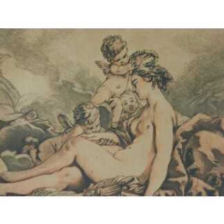 Gravure XVIII ème, Vénus Couronnée Par Les Amours, Par Demarteau