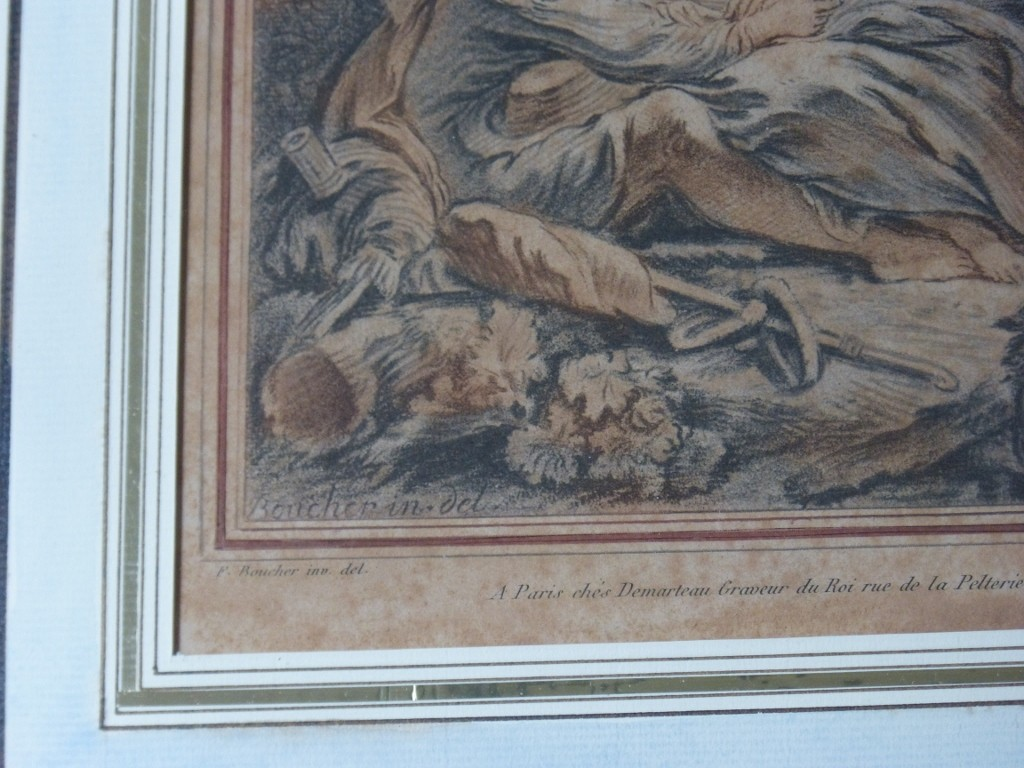 Gravure XVIII ème, d'Après Boucher, Par Demarteau l'Aîné (2)