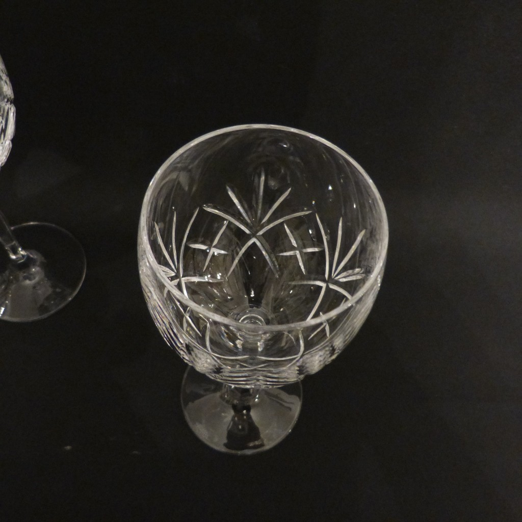 6 Verres à Eau En Cristal Taillé, Cristallerie Des Vosges, Possibilité 12