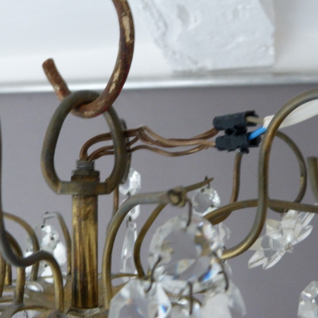 Baccarat, Lustre XIX ème En Cristal Signé Et Bronze, 18 Lumières, Pampilles, Napoléon III