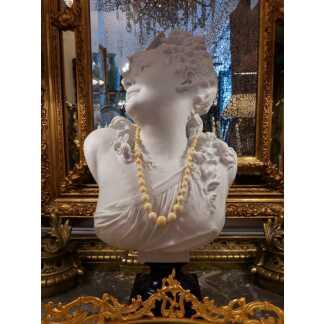 Collier En Perles d'Ivoire, époque Fin XIX ème