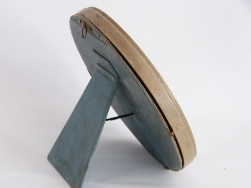 Cadre Rond, Tondo, Style Louis XVI En Bois Sculpté Laqué