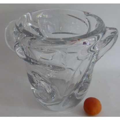 Important Vase En Cristal De Sèvres Vers 1970. 5 Kg!!