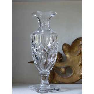 Vase En Cristal Taillé Biseaux, Cristal De Sèvres