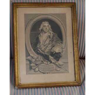 Gravure XVIII ème, Portrait De Nicolas Bertin, Peintre Du Roy, Gravé Par Lépicié