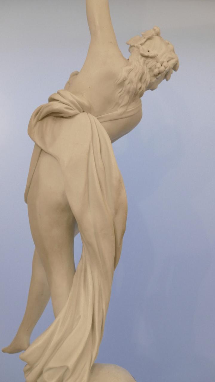 Danseuse Néoclassique, Sculpture En Biscuit De Sèvres, époque XIX ème
