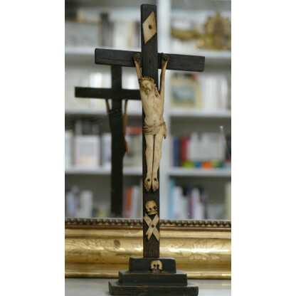 Christ Janséniste En Os Sur Sa Croix, époque XVII, XVIII ème Siècle.
