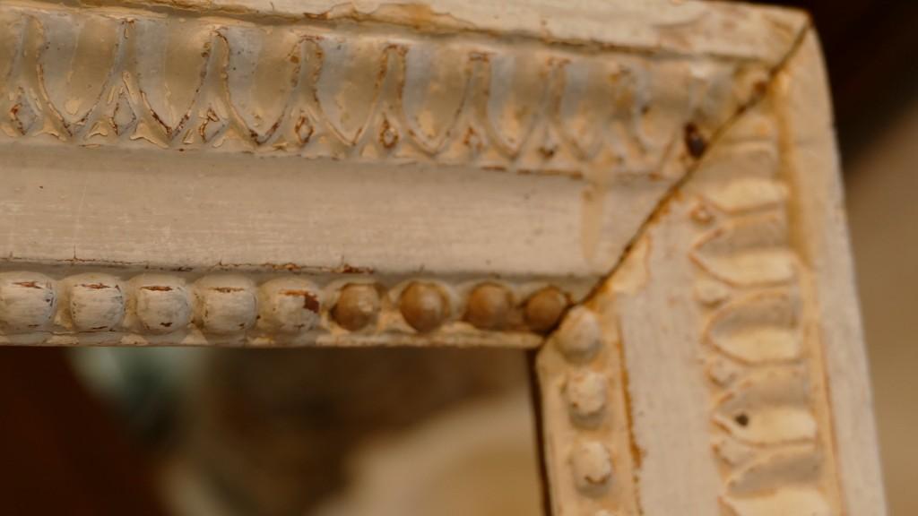Cadre époque Louis XVI En Bois Sculpté laqué, XVIII ème
