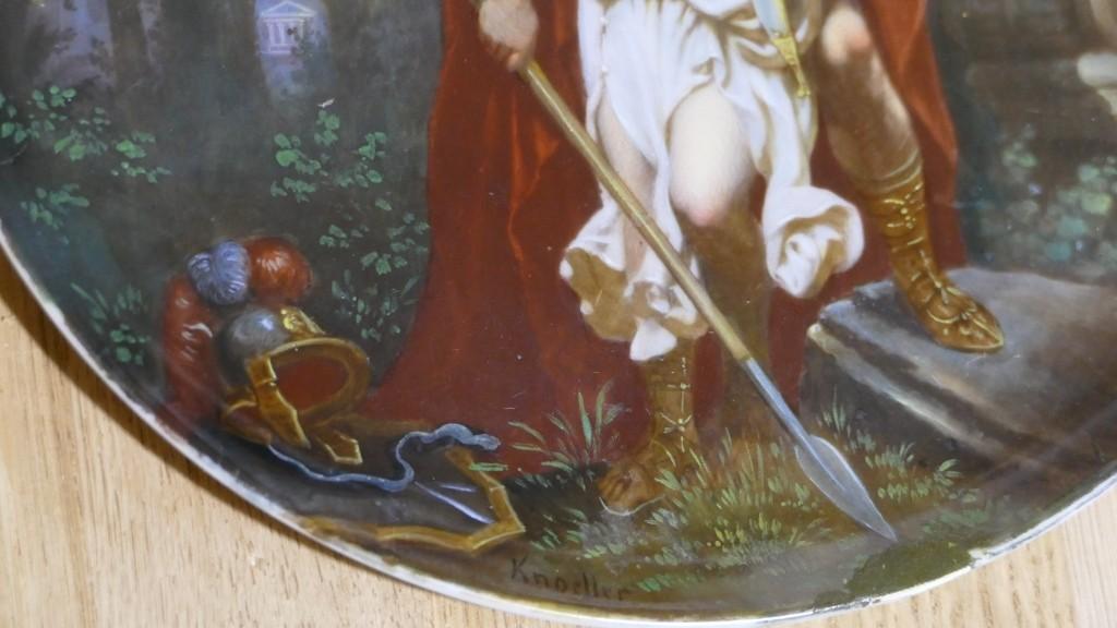 Tancrède Et Clorinde, Tableau Peint Sur Porcelaine Signé Knoeller, Vienne, Fin XIX ème