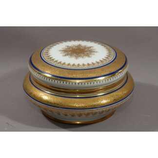 Coffret En Porcelaine Peinte à La Main, Dorure à l'Or Fin