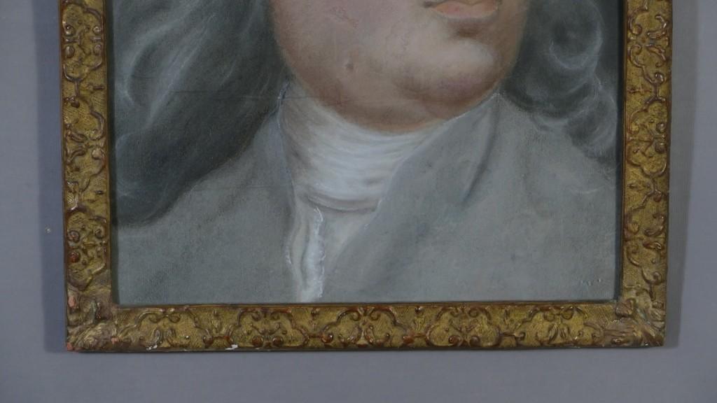 Portrait Au Pastel d'Un Homme Louis XIV, époque XVIII ème
