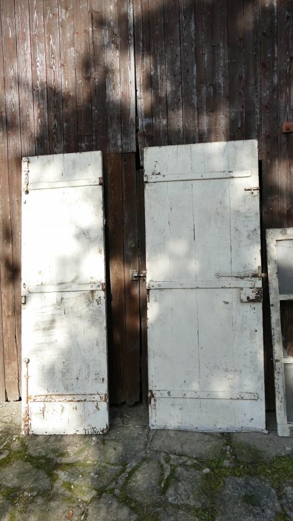 Double Porte d'Entrée En Bois Clouté Avec Imposte, époque Fin XVIII ème, Début XIXèm